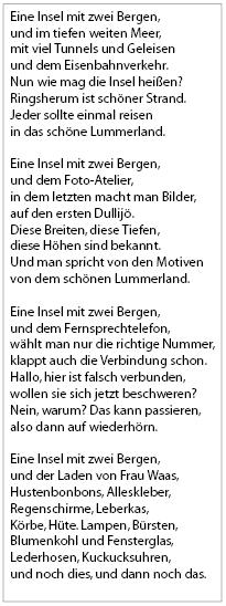 Die lummerländische Nationalhymne